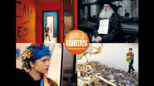 """Werbeplakat """"Everyday Rebellion"""" von Arash & Arman Riahi; Foto:  W-film/Golden Girls Filmproduktion"""