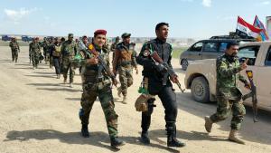Offensive gegen den IS zur Rückeroberung Tikrits von Teilen der irakischen Armee und schiitischen Freiwilligen; Foto: Reuters/Thaier Al-Sudan
