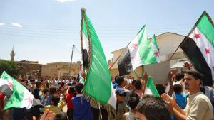 Proteste gegen Baschar al-Assad am 25.05.2012 in Daraa; Foto: Reuters