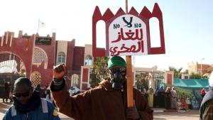 Anti-Fracking-Proteste in Ain Salah; Foto: Billal Bensalem/ABACAPRESS.COM
