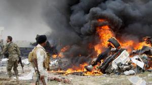 Selbstmordattentäter des IS versuchen die vorrückenden Streitkräfte des Iraks im Süden der Stadt Tikrit aufzuhalten; Foto: Reuters