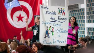 Eröffnungsfeier des Weltsozialforums in Tunis am 26.03.2015; Foto: picture-alliance/abaca/F. Nicolas