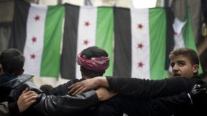 Syrische Oppositionelle in Aleppo; Foto: Odd Andersen/AFP/Getty Images