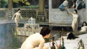 Orientmalerei des französischen Historienmalers und Bildhauers Jean-Léon Gérôme; Quelle: wikipedia