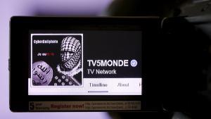 Gehackte Facebookseite von TV5Monde
