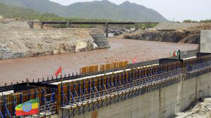 "Bau des ""Grand Renaissance Damm"" am Nil, Äthiopien; Foto: William Lloyd-George/AFP/Getty Images"