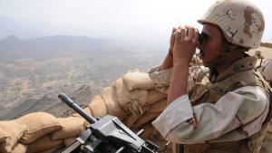 Saudischer Soldat an der Grenze zum Jemen; Foto: imago/Xinhua