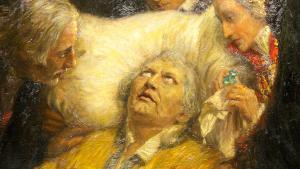 "Gemälde ""Luthers letztes Bekenntnis"" von William Pape, im Museum Luthers Sterbehaus; Foto: picture-alliance/dpa/P. Endig"