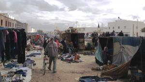 Markt in Kasserine. Foto: Beat Stauffer