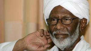 Der sudanesische Oppositionspolitiker Hassan al-Turabi; Foto: AFP/Getty Images/A. Shazly