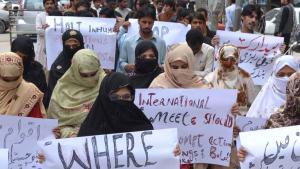 Belutschen protestieren gegen die pakistanische Regierung; Foto: DW/ A. Ghani Kakar