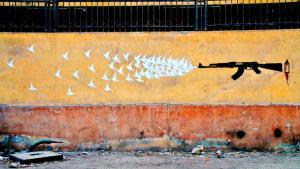 """Graffiti-Abbildung aus dem Buch """"Walls of Freedom"""" von Basma Hamdy und Don Karl; Quelle: El-Zeft"""