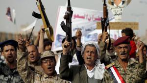 Huthi-Rebellen in Sanaa; Foto: Reuters/K. Abdullah