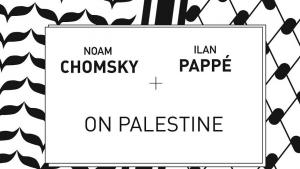 """Buchcover """"On Palestine"""" von Noam Chomsky und Ilan Pappé, Verlag Haymarket Books"""