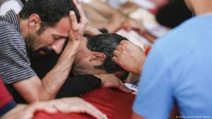 Trauerfeier für einen türkischen Soldaten, der im Kampf mit IS-Milizen getötet worden ist. Foto: Picture-Alliance