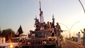 IS-Dschihadisten nehmen im Juni 2014 Mossul ein; Foto: picture-alliance/AP