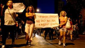 Proteste in Beirut gegen die seit einem Monat anhaltende Müllkrise im Libanon; Foto: DW/B.Barraclough