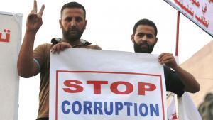 Proteste von Schiiten in Bagdad gegen Korruption und Missmanagement im Irak; Foto: Reuters/T. Al-Sudani