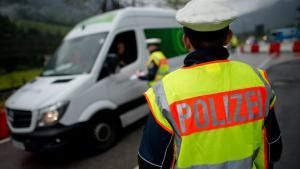 Grenzkontrolle in Deutschland; Foto: dpa