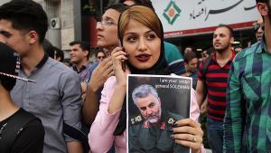Demonstration für General Qassem Soleimani in Mashhad; Foto: SNN.ir