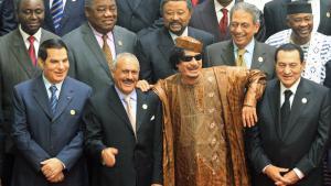 Ehemalige Diktatoren im arabischer Raum (Von links nach rechts): Ben Ali, Salih, Gaddafi, Mubarak; Foto: picture-alliance/dpa