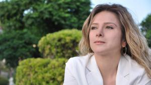 Die syrische Schriftstellerin Samar Yazbek; Foto: DW/Manaf Azzam