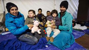 Syrische Flüchtlinge in Berlin. Foto: DPA