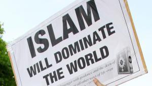 Proteste gegen islamischen Fundamentalismus am 6. Mai in London; Foto: picture-alliance/empics