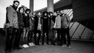 """Iranische und israelische Musiker während der """"Secret Handshake Tour""""; Foto: Olli Waldhauer"""