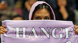 """Proteste währen der """"Grünen Revolution"""" im Iran im Jahr 2009; Foto: AP"""