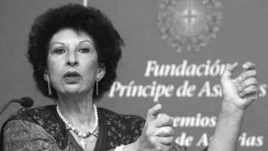 Die marokkanische Feministin Fatima Mernissi; Foto: J.L. Cereijdo/AP