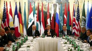 Teilnehmer der Syrien-Konferenz in Wien; Foto: Reuters
