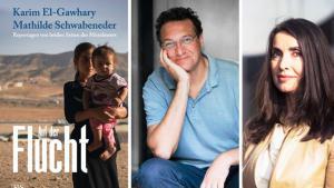 """Buchcover """"Auf der Flucht"""" von Karim El-Gawhary & Mathilde Schwabeneder; Quelle: Kremayr und Scheriau Verlag"""