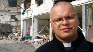 Mario Da Silva, katholischer Pfarrer von Gaza; Foto:  ordredusaintsepulcre.be