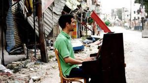 Aeham Ahmad, syrischer Pianist in Damaskus; Foto: Johannes-Wasmuth-Gesellschaft e.V./Niraz Saied