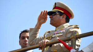 Ägyptens Präsident Abdel Fattah al-Sisi während der  Suez-Kanal-Eröffnung; Foto: Reuters/The Egyptian Presidency
