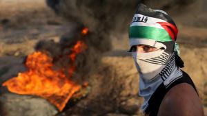 Ausschreitungen an Israels Grenze zum Gazastreifen; Foto: REUTERS/Ibraheem Abu Mustafa