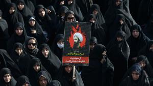 Proteste in Teheran gegen die Hinrichtung des schiitischen Geistlichen Scheich Nimr Baker al-Nimr in Saudi-Arabien; Foto: picture-alliance/AP Photo/V. Salemi