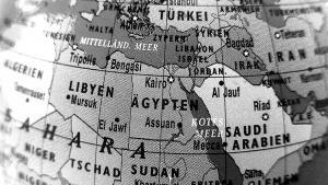 Weltkarte mit Ländern des Nahen und Mittleren Ostens; Quelle: DW