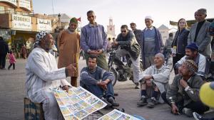 Geschichtenerzähler Mohamed Jabri auf dem Jemaa el Fna; Foto: © Thomas Ladenburger