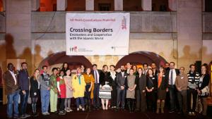 Gruppenfoto mit den Stipendiaten des Crossculture-Programms. Foto: Fabian Pianka