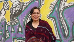 Die ägyptische Schriftstellerin Mansura Eseddin; Foto: Arian Fariborz