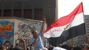 Demonstration in der Mohamed-Mahmoud-Straße am 12.10.2012; Foto: Sofian Philip Naceur
