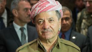 Masud Barzani, Präsident der Autonomen Region Kurdistan; Foto: Maurizio Gambarini/dpa