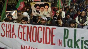 Proteste schiitischer Muslime in Pakistan nach einem Anschlag  in Lahore anm 22. Januar 2014, bei dem 24 schiitische Pilger ums Leben kamen; Foto: AFP/Getty Images