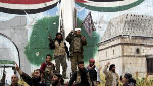 Rebellen al-Nusra Front in Idlib; Foto: Reuters/K. Ashawi