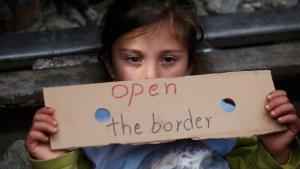 Flüchtlingskind in Idomeni; Foto: Reuters/S. Nenov