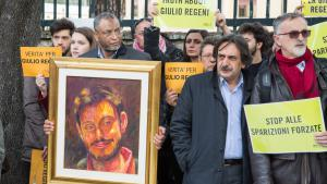 Proteste in Rom gegen die Folter und Ermordung Regenis; Foto: picture alliance/dpa/D.Fracassi