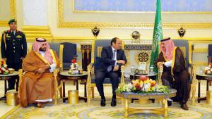 Besuch des ägyptischen Präsidenten Al-Sisi beim saudischen König Salman in Riad; Foto: picture alliance/epa/Egyptian Presidency