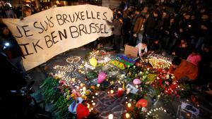 """""""Je suis Bruxelles"""" - """"I am Brussels"""": Trauer für die Opfer der Terroranschläge von Brüssel; Foto: Reuters"""
